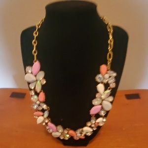 J CREW FACTORY MIXED JEWELS NECKLACE